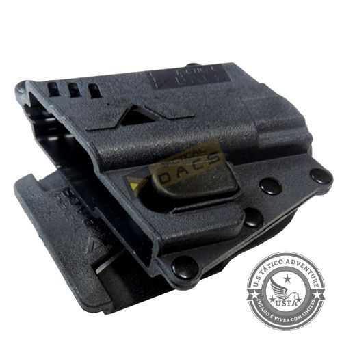 Coldre Em Polímero P/ Pistola Taurus/glock - Destro - Dacs PRETO