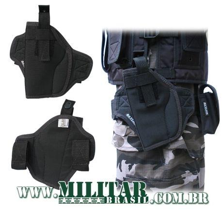 Coldre Panqueca Militar Brasil Preto - .45 / .40 / 9mm