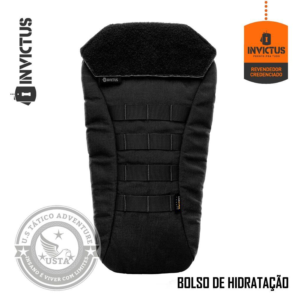 Colete Capa Balística Vulcano 3a + Bolso Hidratação Invictus
