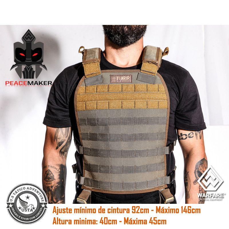 Colete Tático Militar Fenrir Suspensório Peacemaker Cordura 500 COYOTE