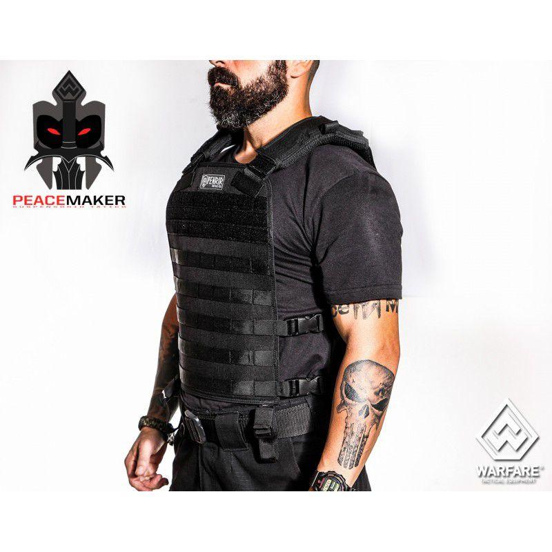 Colete Tático Militar Fenrir Suspensório Peacemaker Cordura 500 - Preto