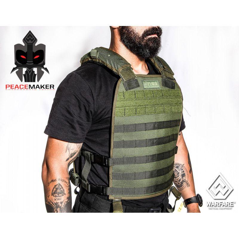 Colete Tático Militar Fenrir Suspensório Peacemaker Cordura 500 VERDE