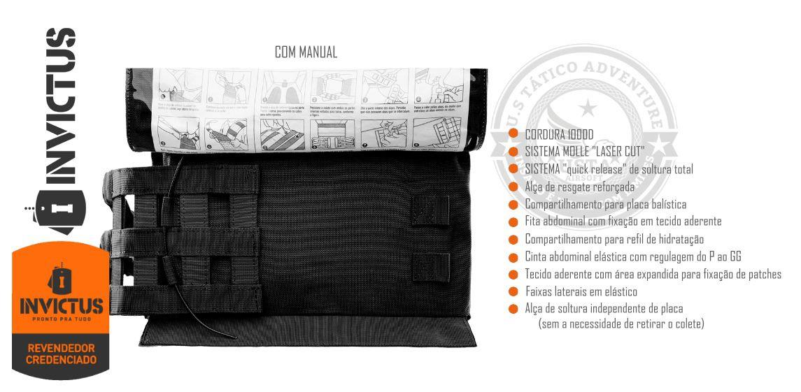 Colete Tático Plate Carrier APOLO Invictus