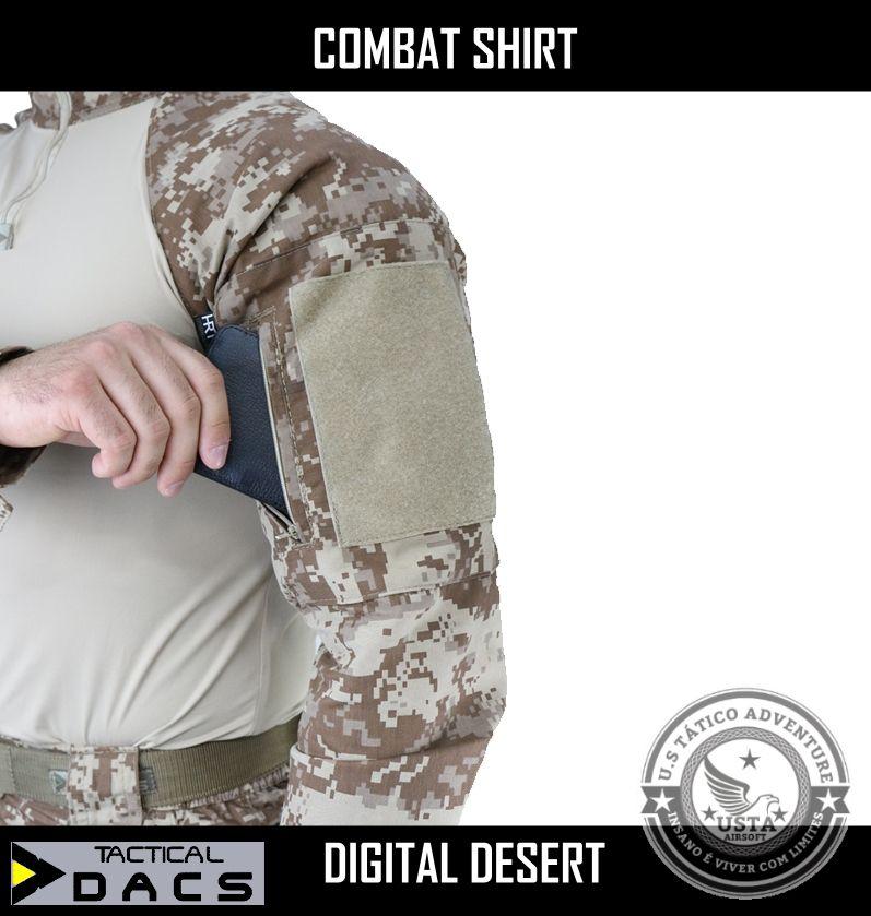 Combat Shirt Tática Militar Hrt Digital Desert Dacs Original