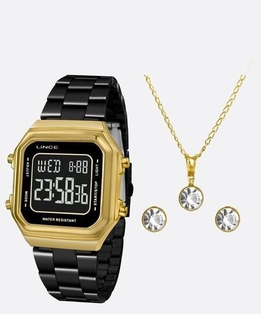Conjunto Relógio Lince Orient SDG618L KY05 + Colar e Brincos
