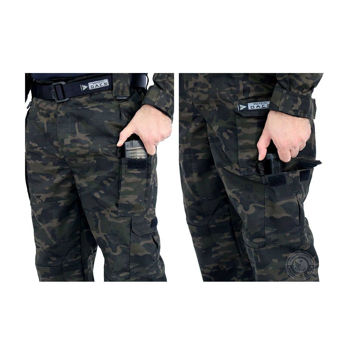 Farda Militar Uniforme Tático HRT Multicam Black Tactical Dacs
