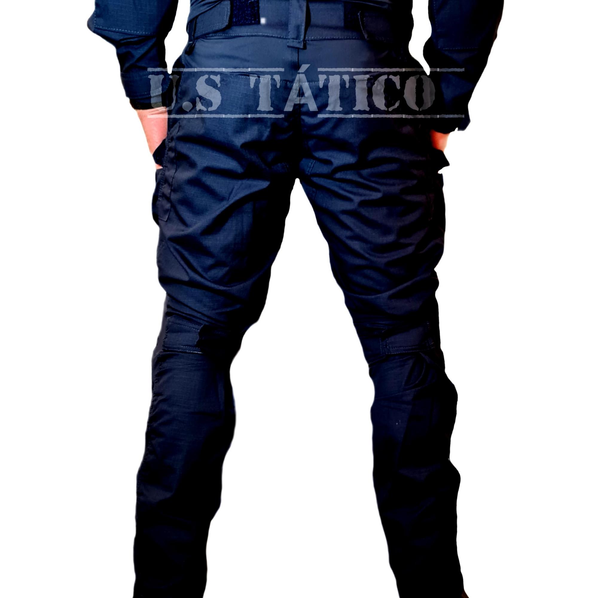 Farda Tática RANGER RipsTop C/Flex AZUL NOITE Com Joelheira Tactical Dacs