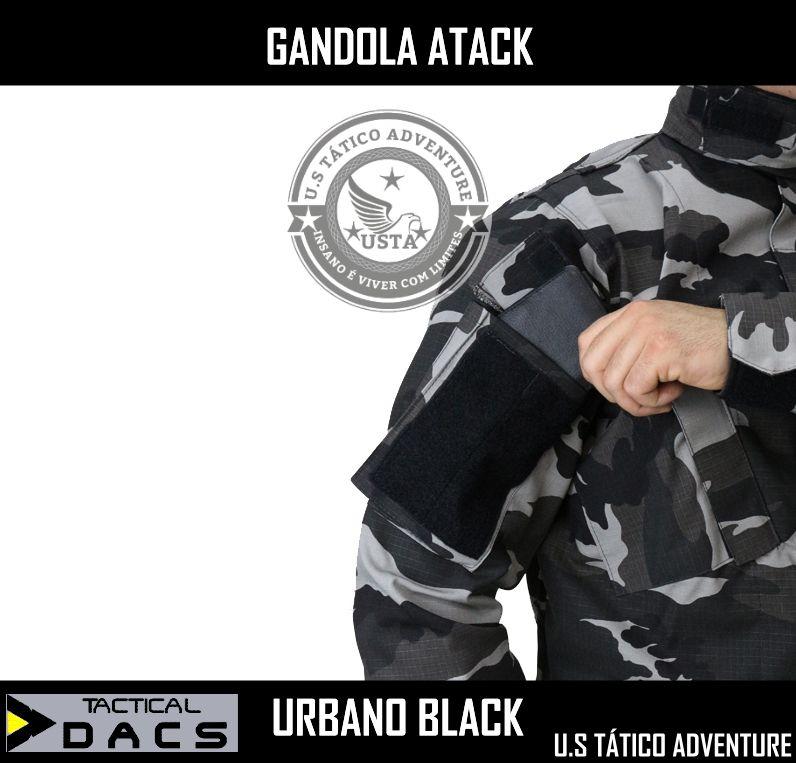 Gandola Atack Ripstop - Urbano Black TACTICAL DACS