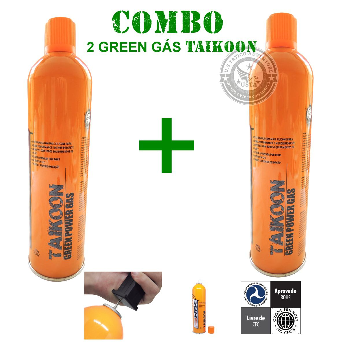 Green Gas Taikoon Power Ntk - Dois Greengas No Combo Promo