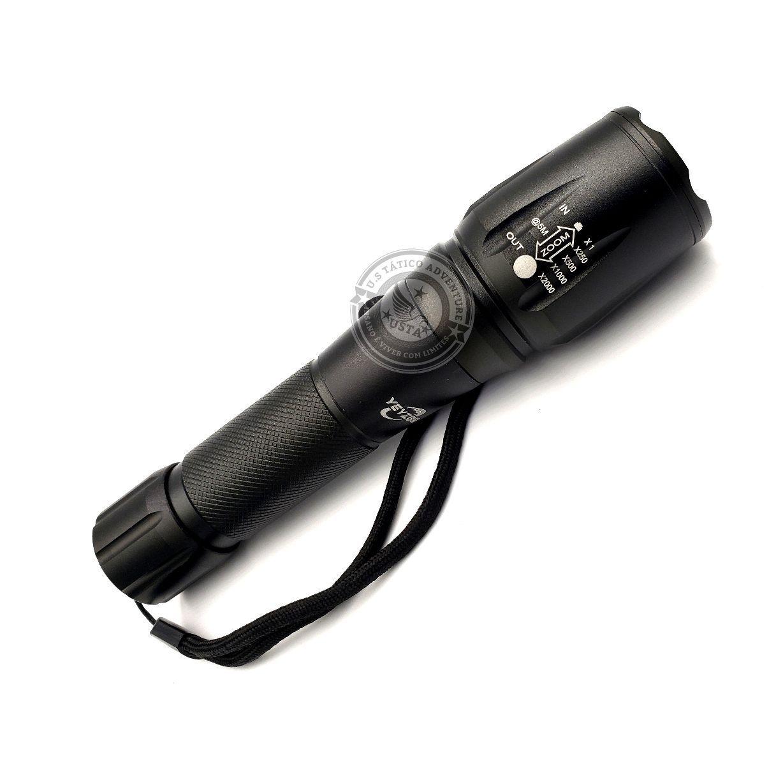 Lanterna Tática De Led Cree T6 Recarregável 2980000 Lumens YEYZGS