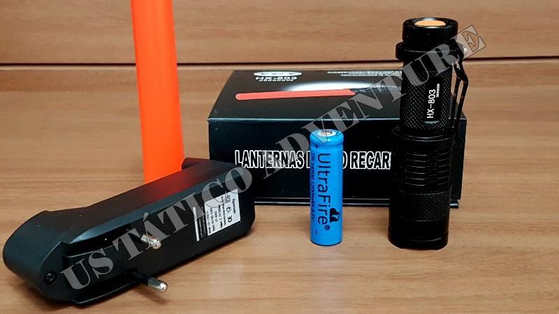 Lanterna Tática De Led Q5 Cree HX-803 Recarregável 54000 LUMENS