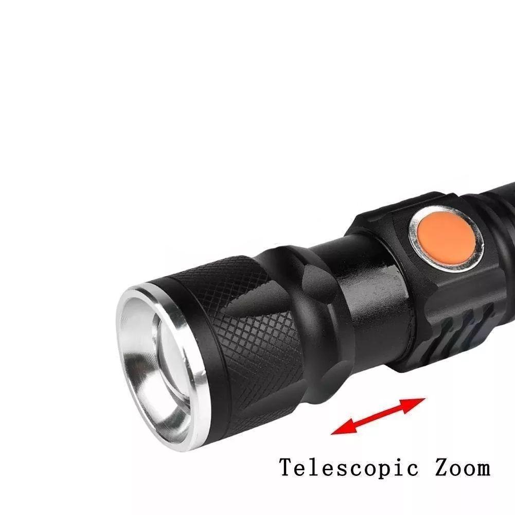 Lanterna Tática Recarregável Usb + Zoom 980000w- Cree T6 Top