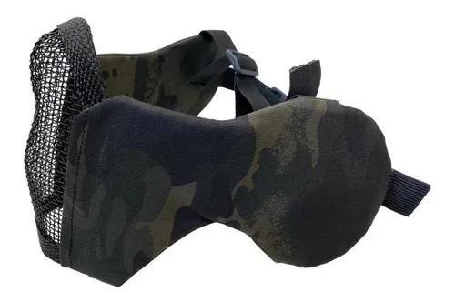 Mascara De Airsoft Com Proteção De Orelha Multicam Black