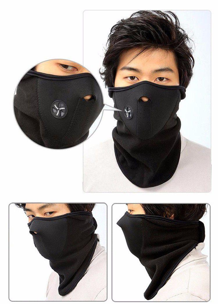 Máscara Protetora Meia Face e Pescoço PRETA