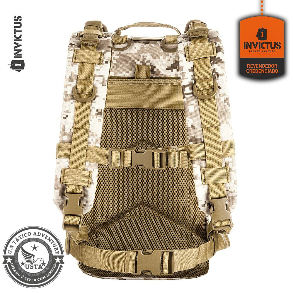 Mochila Invictus Assault Digital Deserto - Modular