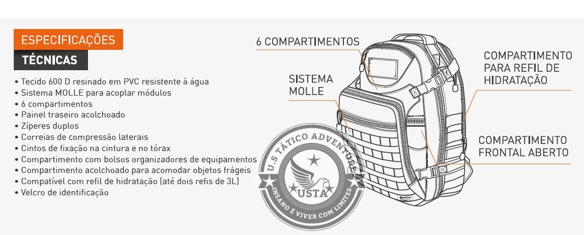 Mochila Mission Preta Invictus Original Lançamento