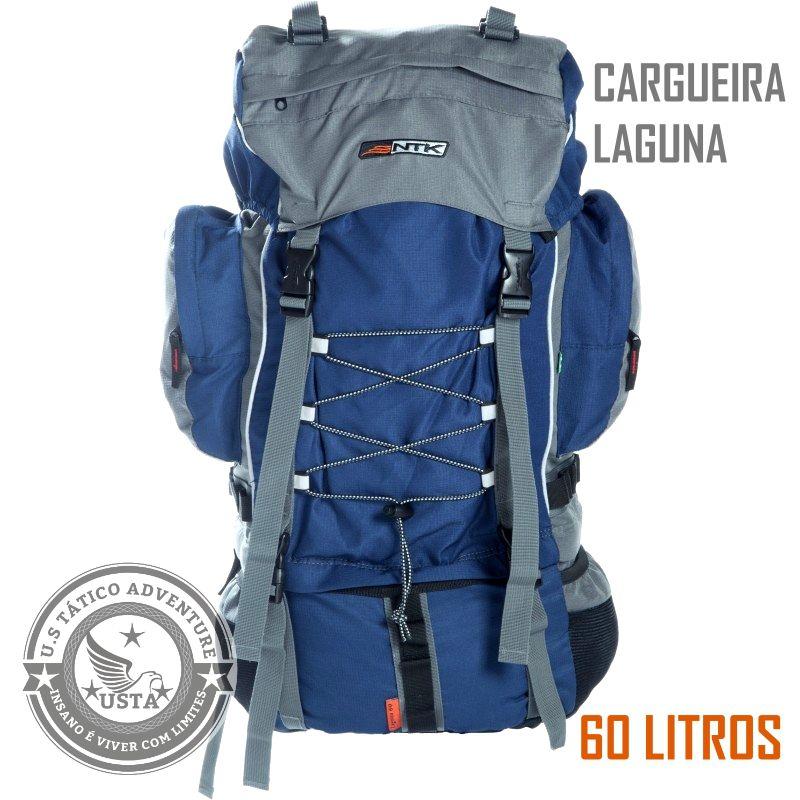 Mochila Ntk Cargueira Trekking Laguna 60l Nautika Azul/cinza