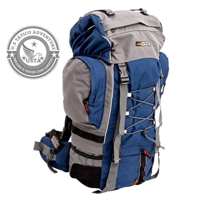 Mochila Ntk Cargueira Trekking Laruna 60l Nautika Azul/cinza