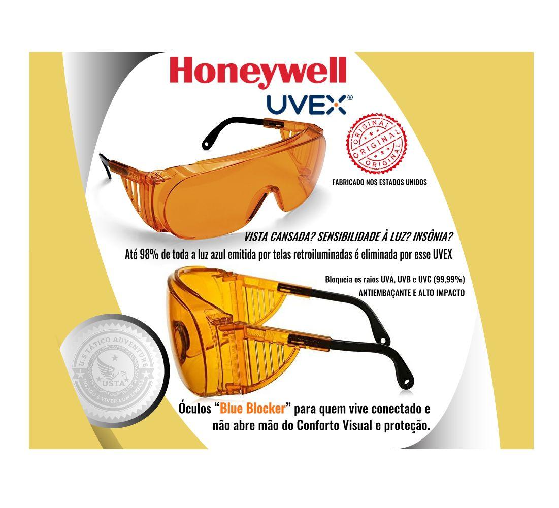 Óculos Blue Blocker Uvex Antiembaçante Laranja