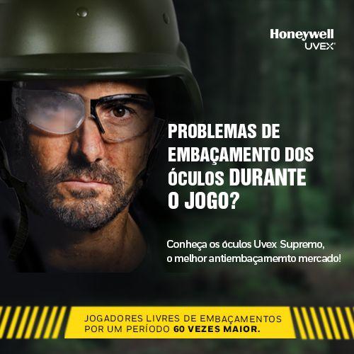 Óculos Tático Militar Honeywell A705BR01hs Uvex Original Clear