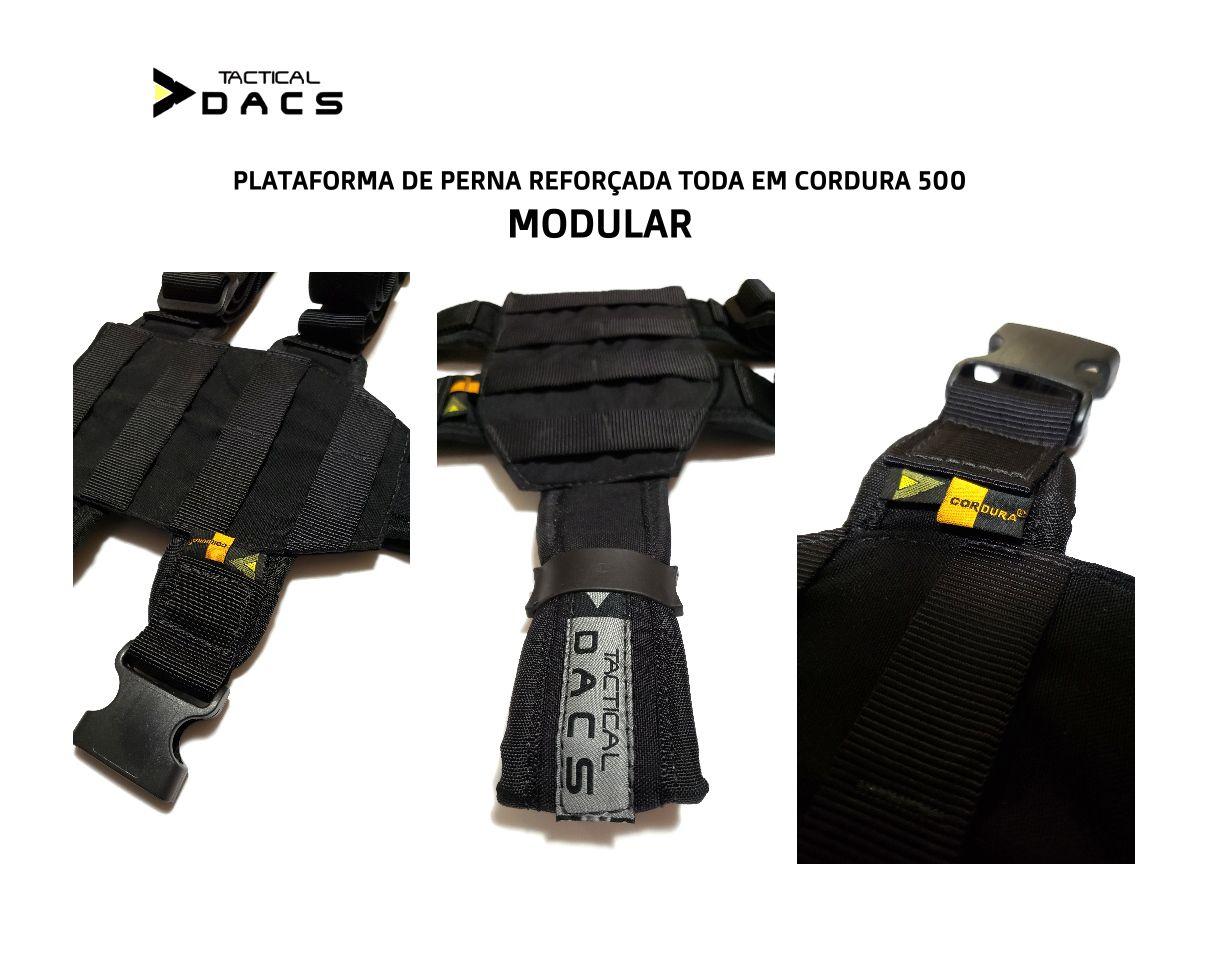 Plataforma De Perna Modular Em Cordura PRETA Tactical Dacs
