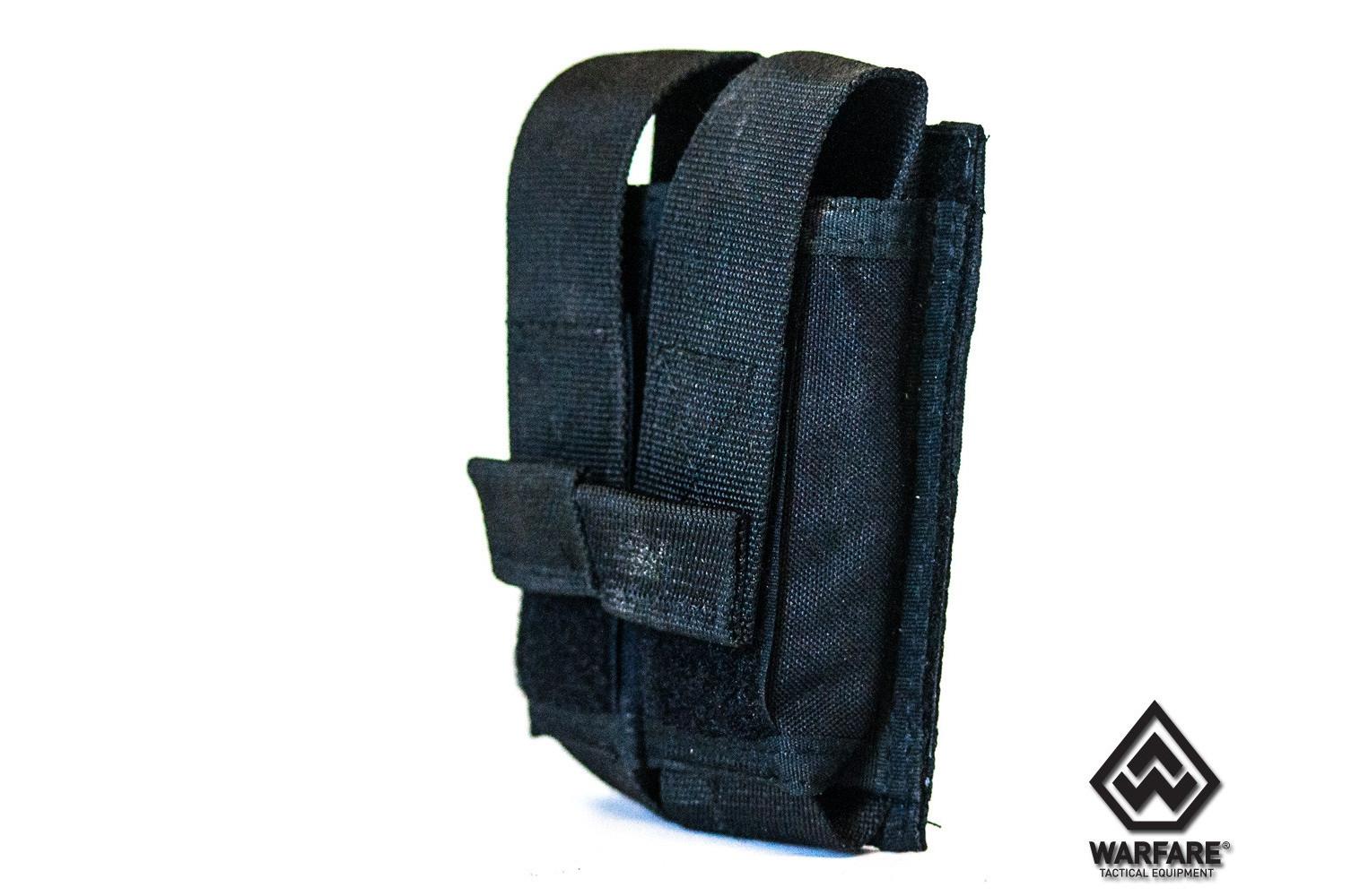 Porta Carregador Warfare 2 X Pistola - PRETO