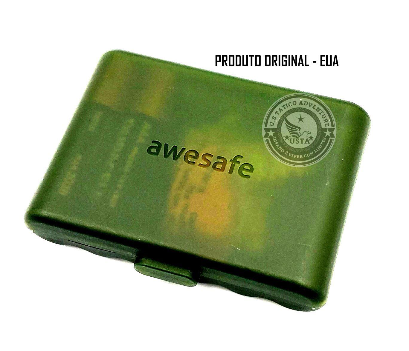 Protetor Abafador Eletrônico Profissional Awesafe Eua Original Camuflado