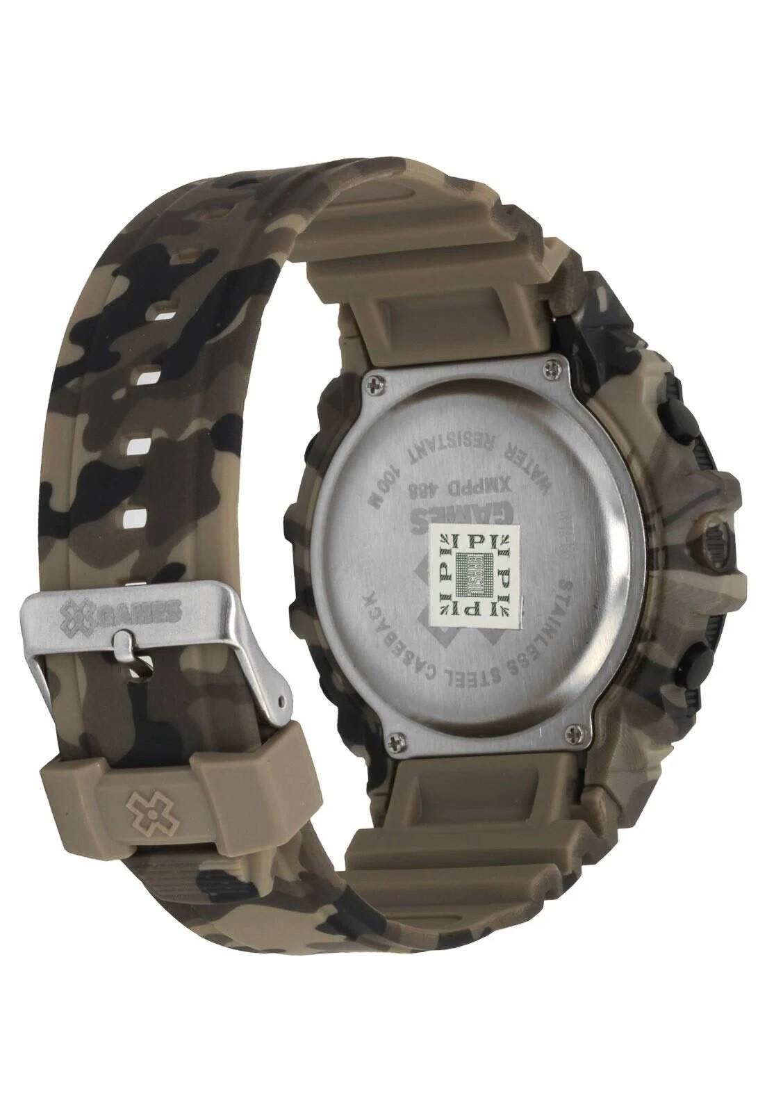 Relógio Digital Camuflado X-Games Orient - XMPPD488 PXPE