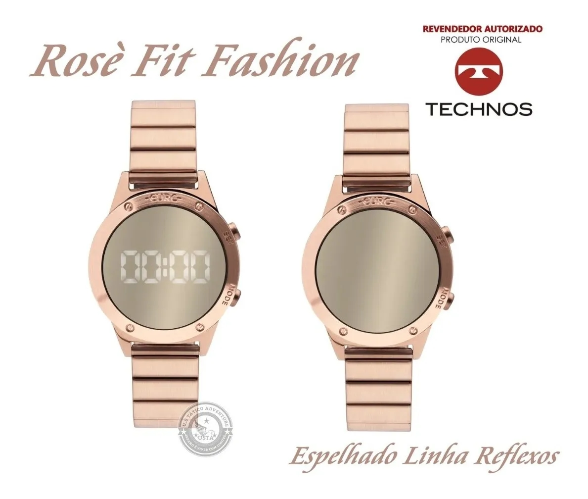 Relógio Euro Rose Sabrina Sato Espelhado Digital Luz Led - EUJHS31BAC