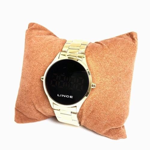 Relógio Feminino Digital Dourado Lince Orient - MDG4618L VXKX