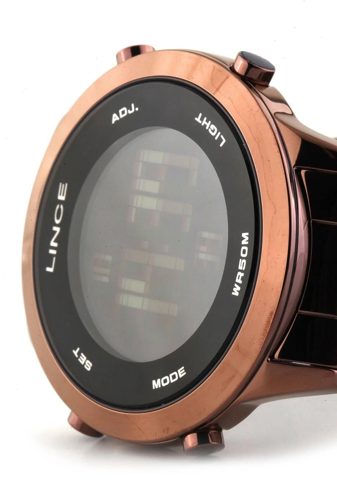 Relógio Feminino Led Noturno Lince Orient - SDPH084L PXNX