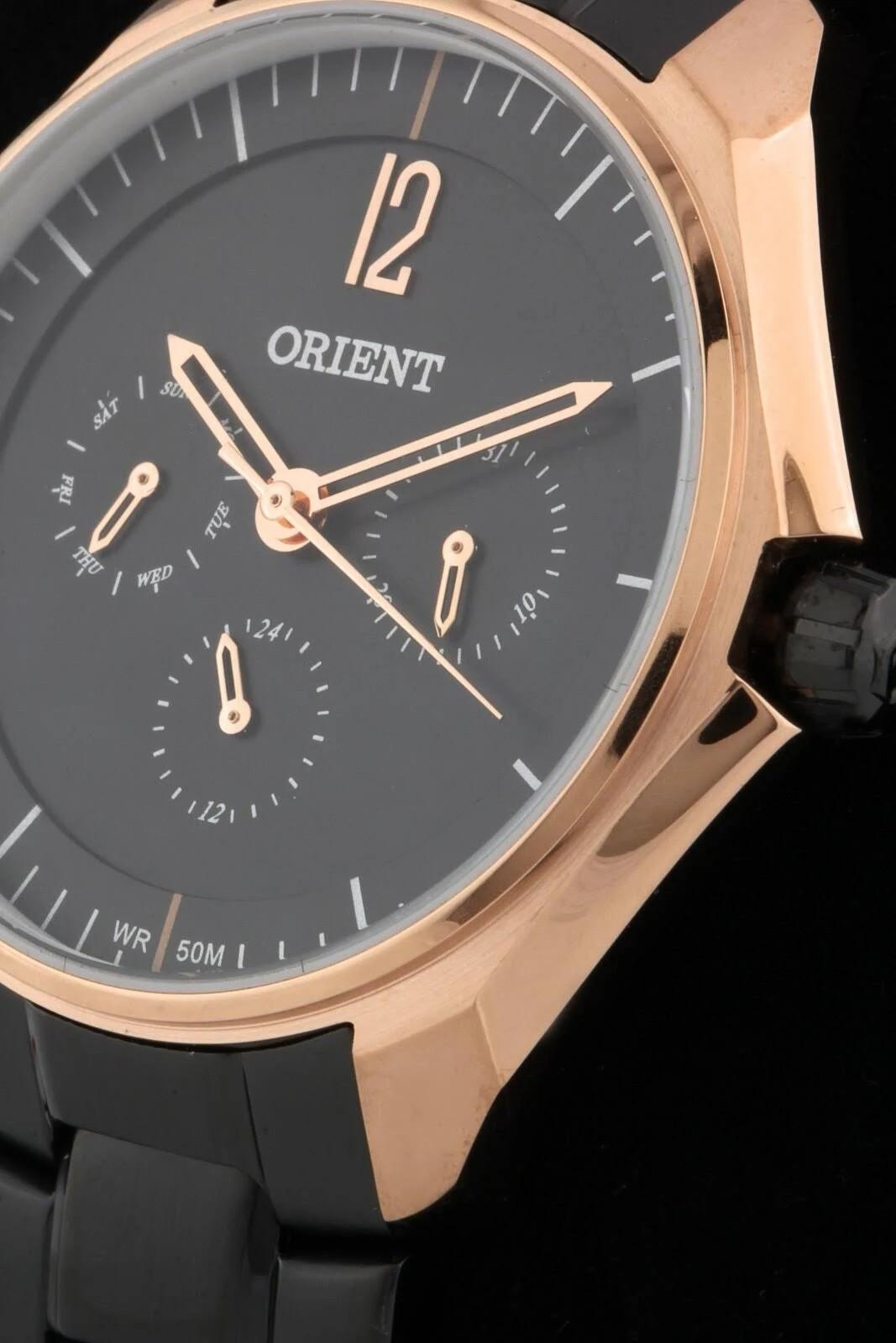 Relógio Feminino Orient Black Rose - FTSSM038 P2PX