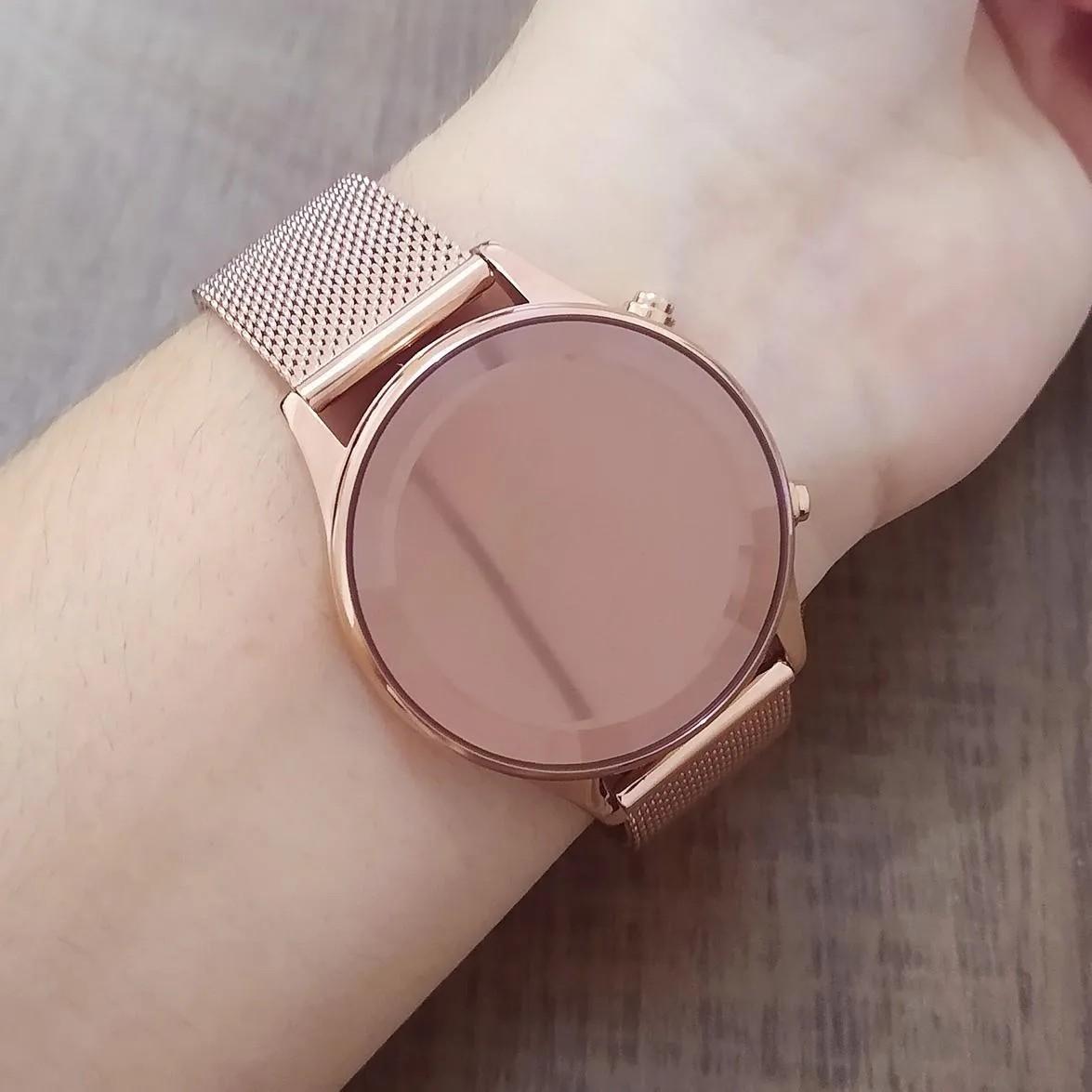 Relógio Led Feminino Rose Clássico Lince Orient - LDR4648L RXRX