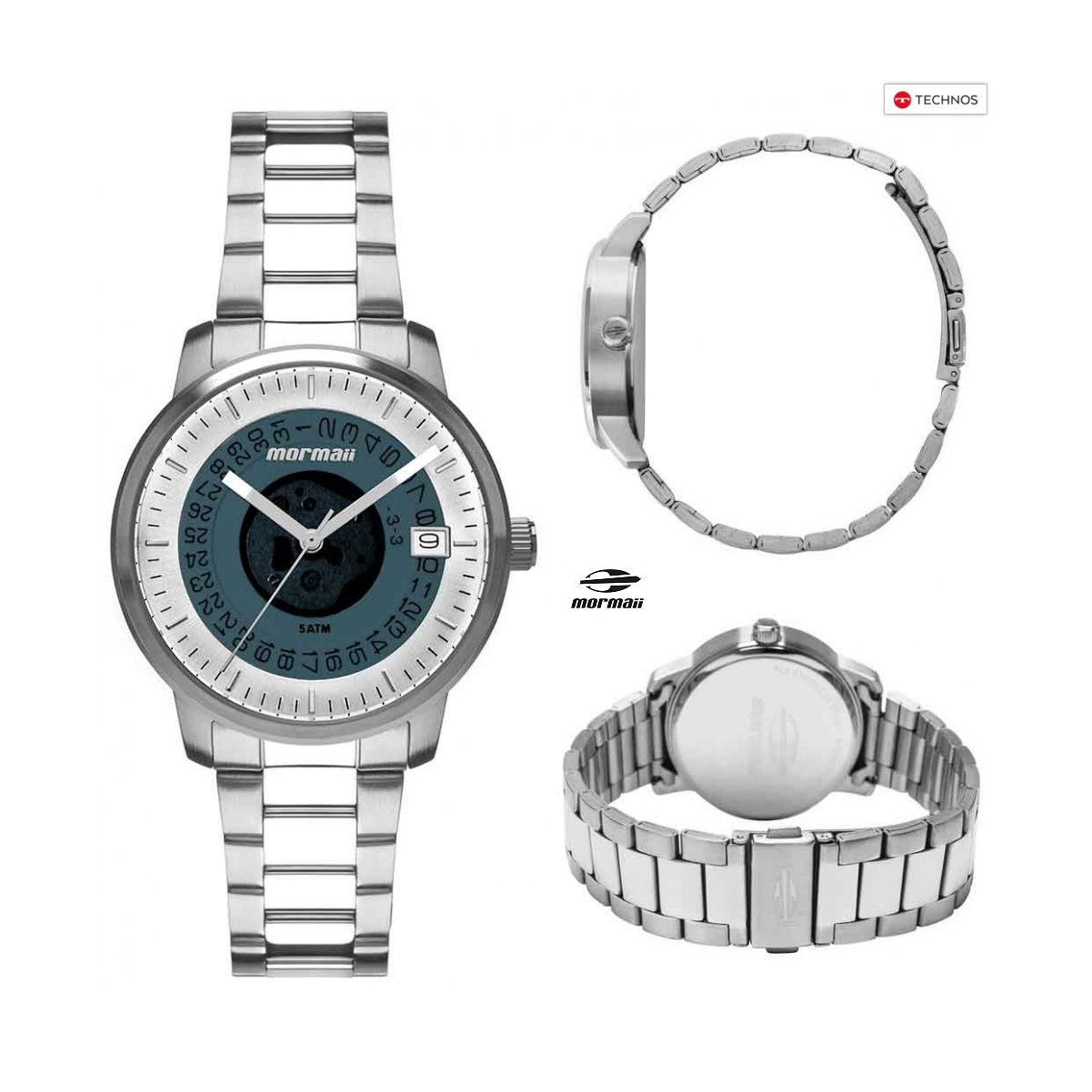 Relógio Mormaii Feminino Maui Sunset Aço Prata Original