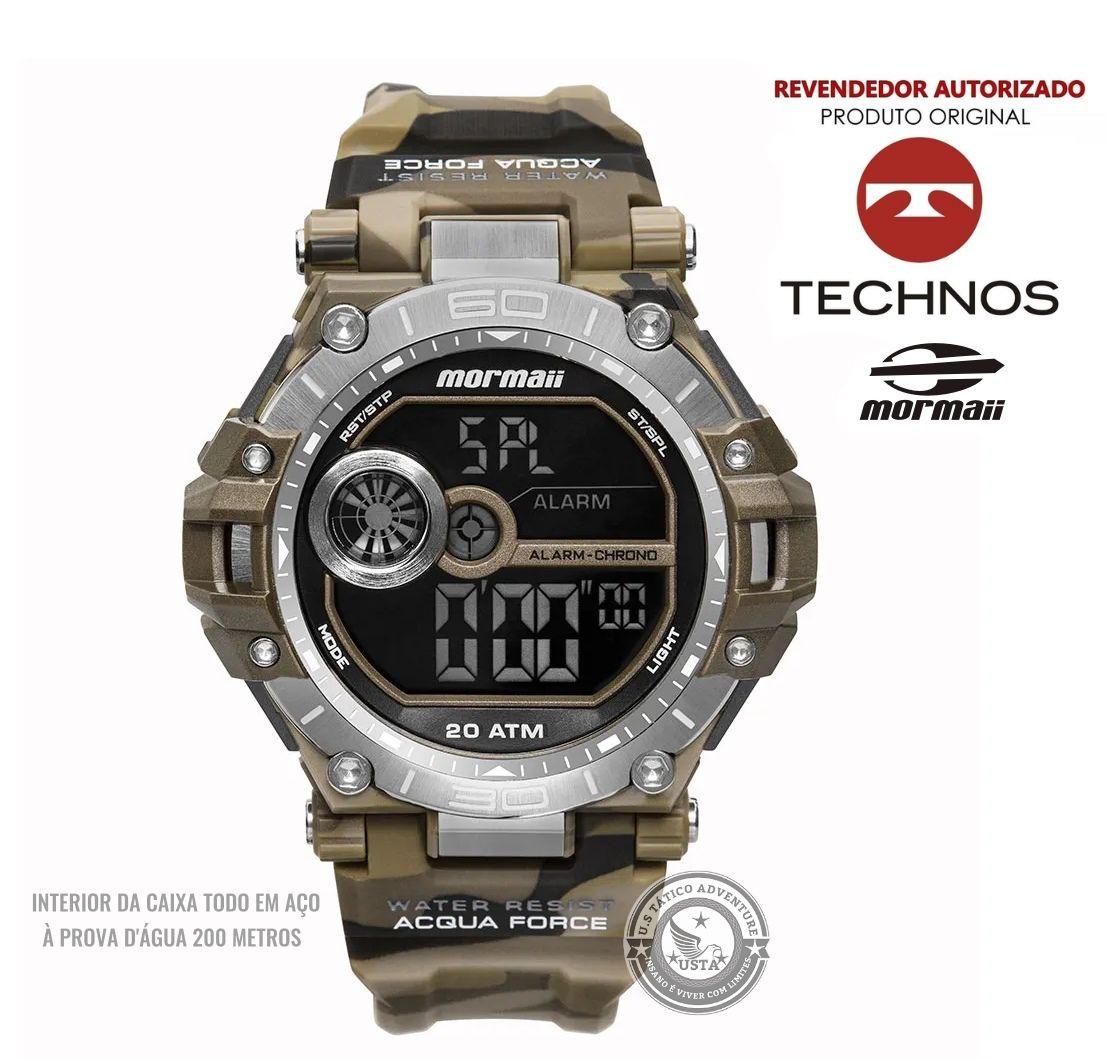 Relógio Mormaii Masculino Acqua Force AÇO CAMUFLADO MO14073AB/8M
