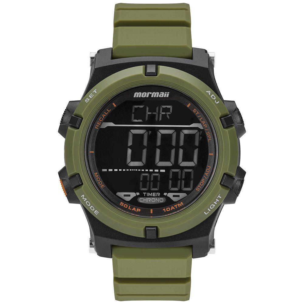 Relógio Mormaii Pro Verde Exército Technos Original