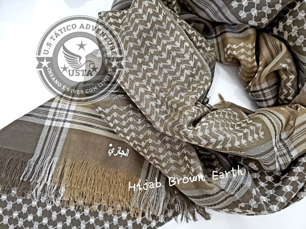 Shemagh Lenço Hijab Árabe Muçulmano Brown Earth Exclusivo