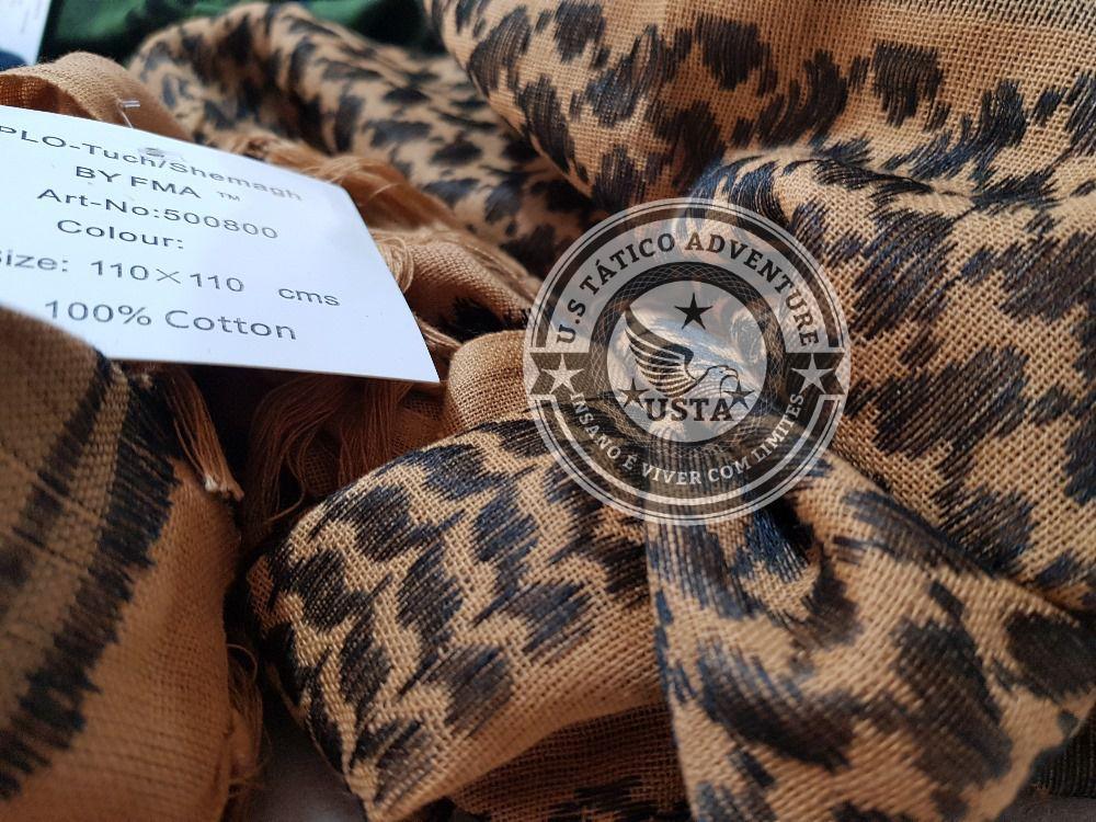 Shemagh PREMIUM Árabe Tático Militar Marrom Coyote Fma Original