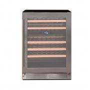 Adega Climatizada de Embutir Cuisinart Arkton 44 Garrafas Dual Zone de Embutir Inox 220V