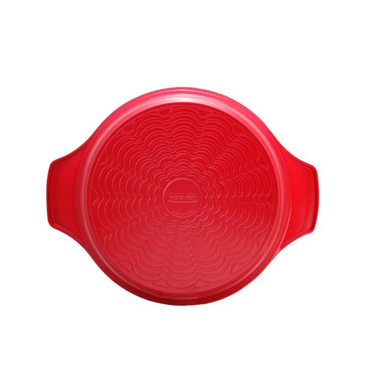 Caçarola Antiaderente Natural Roichen Alumínio Cerâmica Vermelha 28cm 7L