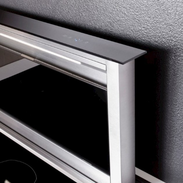 Coifa de Bancada Elettromec Sollevare Downdraft  Inox e Vidro 90cm 220V