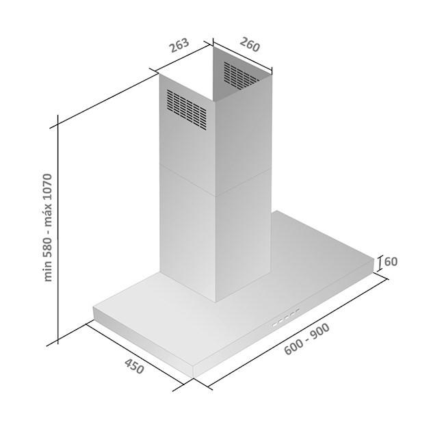 Coifa de Parede Falmec Fiamma Inox 60cm 127V