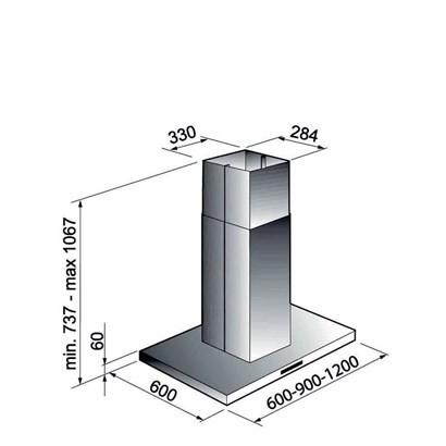 Coifa Elettromec Milano Ilha Inox 90cm
