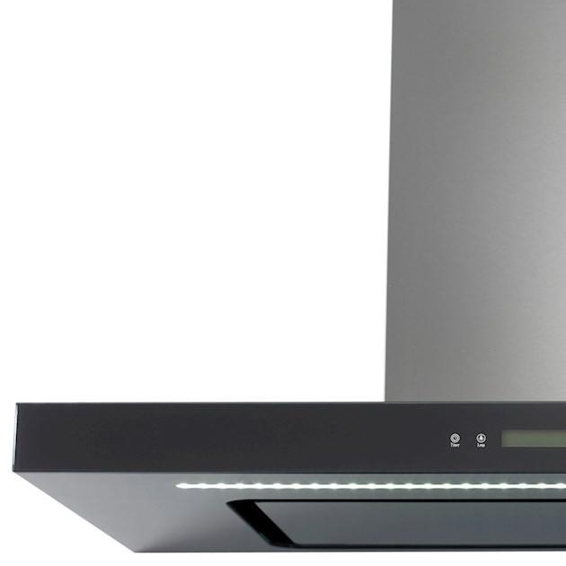 Coifa Elettromec Vetro Parede Inox e Vidro 90cm 220V