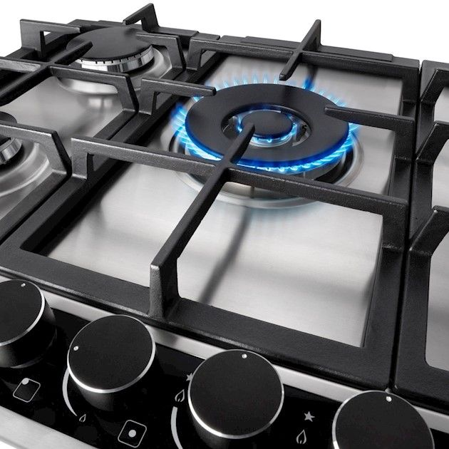Cooktop à Gás Elettromec Sole 5 Queimadores Inox 70cm Bivolt
