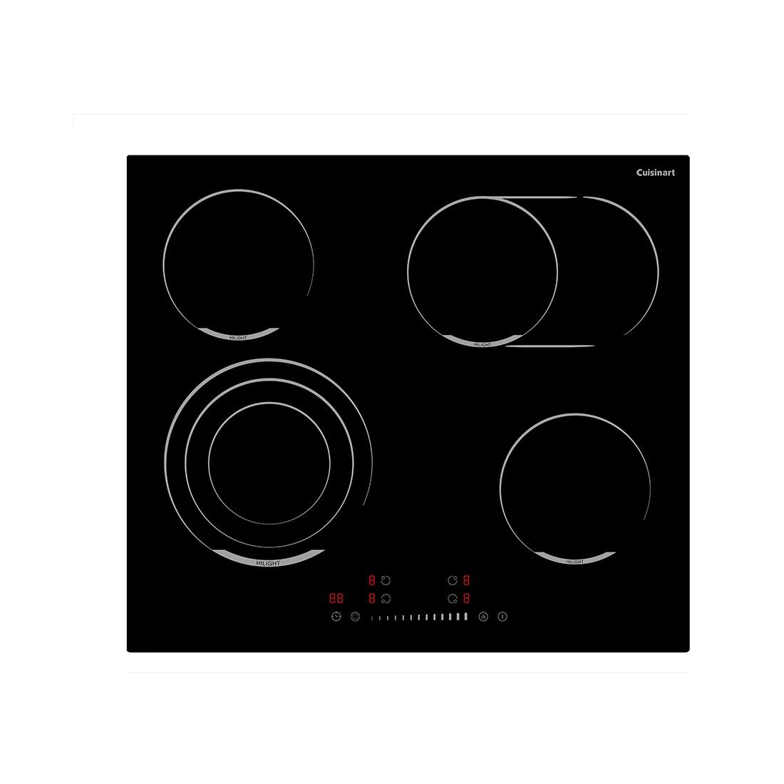 Cooktop Elétrico Vitrocerâmico Cuisinart Arkton 4 Queimadores 59cm 220V