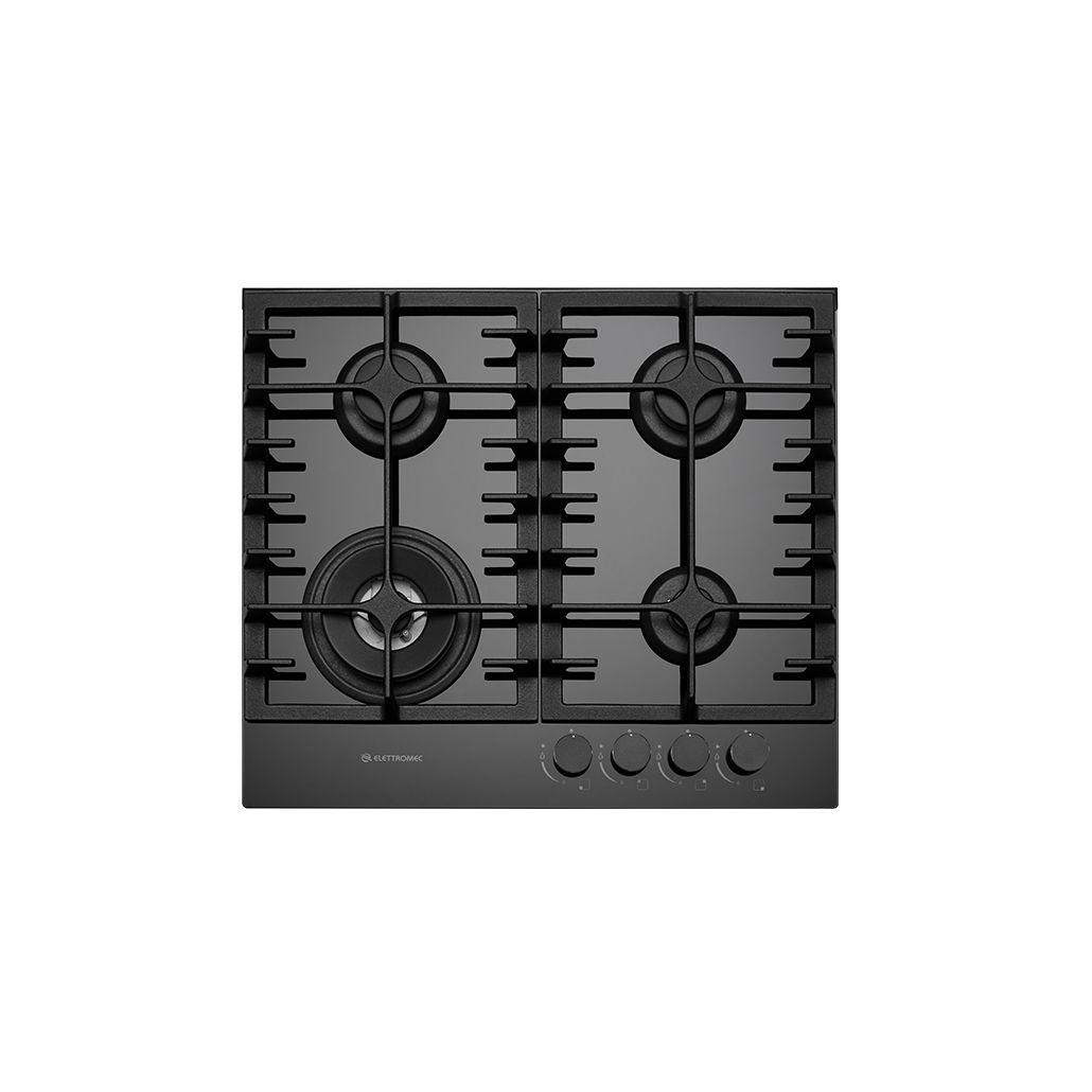 Cooktop Elettromec Vetro 4Q 60cm Bivolt