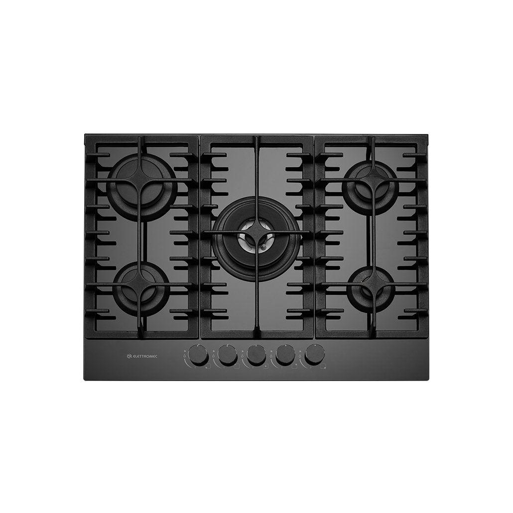 Cooktop Elettromec Vetro 5Q 70cm Bivolt