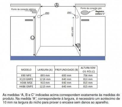 Fogão Bertazzoni Profissional 6 Queimadores PRO90 6 MFE ROT Vermelho
