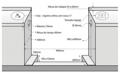 Fogão Lofra Rainbow Preto 5Q 90X60 Forno Multifunções